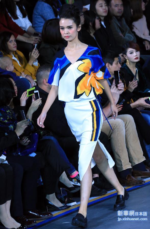 (晚報)(1)中國國際時裝周(2016春夏系列)在北京開幕