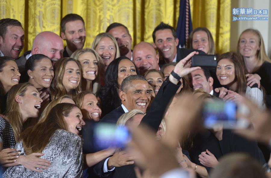 請以此說明為準(體育)(1)籃球——奧巴馬接見美國女足國傢隊球員