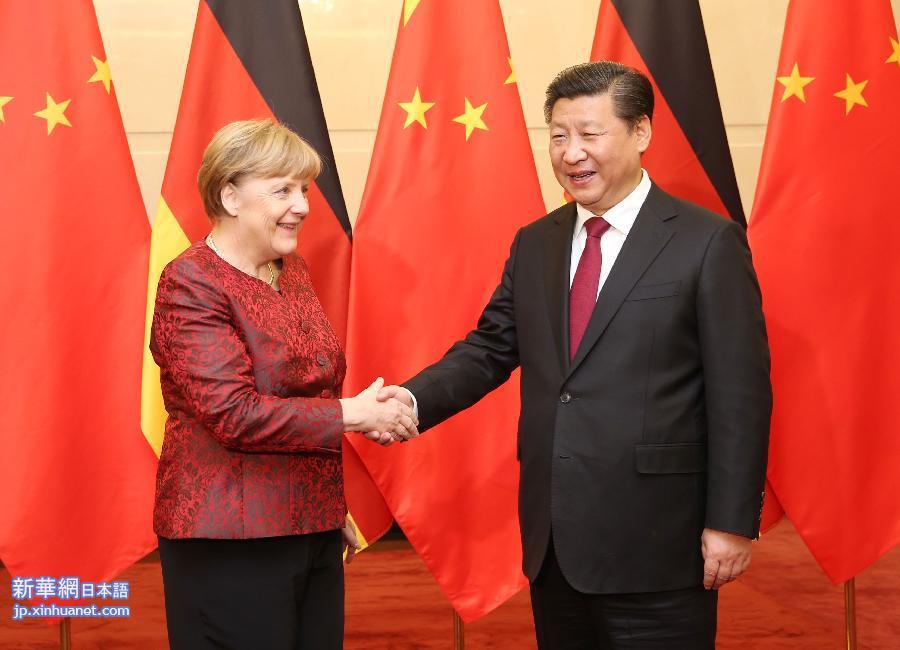 (時政)習近平會見德國總理默克爾