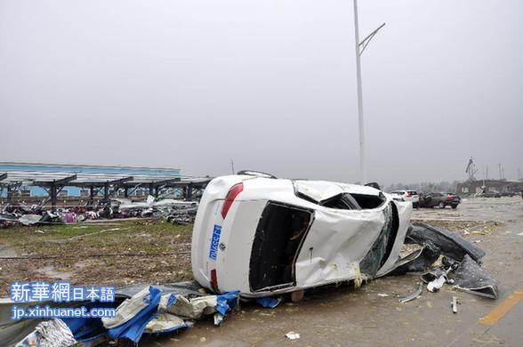 江蘇省塩城市、竜巻災害の死者98...