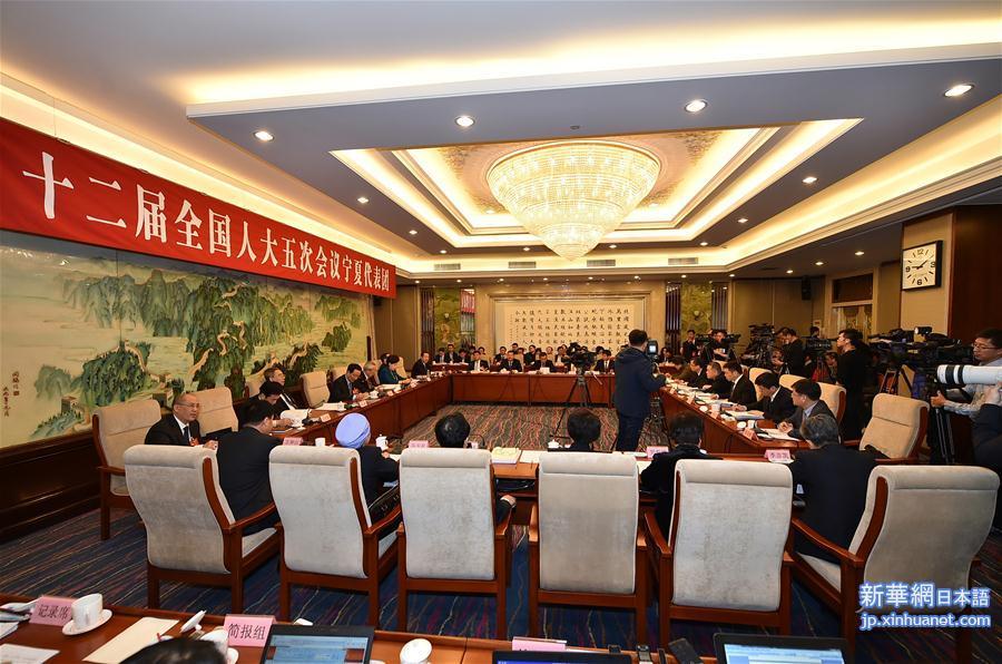 寧夏代表団全体会議、メディアに公開