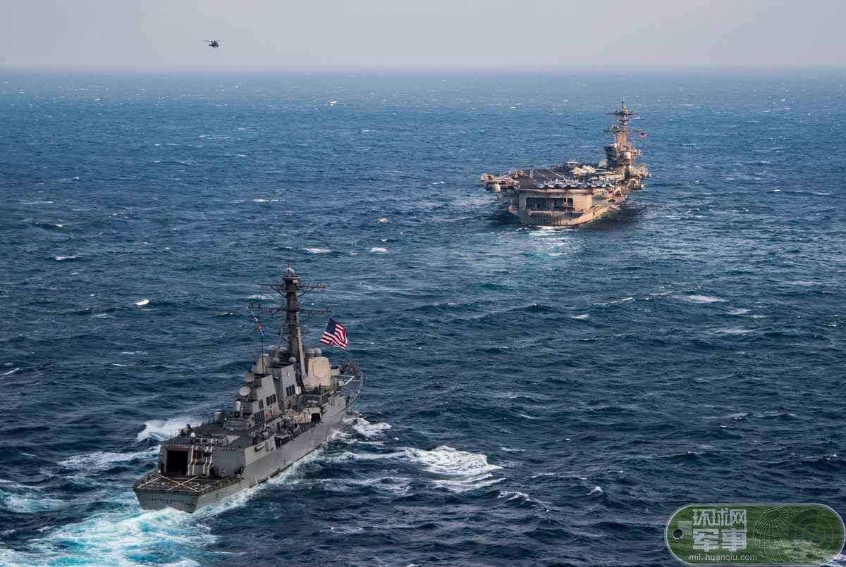 米空母打撃群、日本と東中国海で武力誇示_新華網日本語