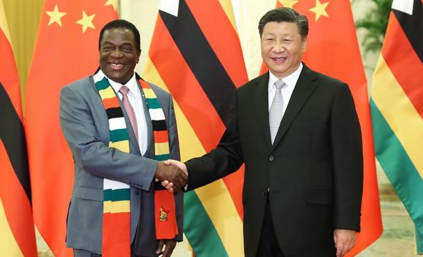 習近平主席、ジンバブエのムナンガグワ大統領と会見