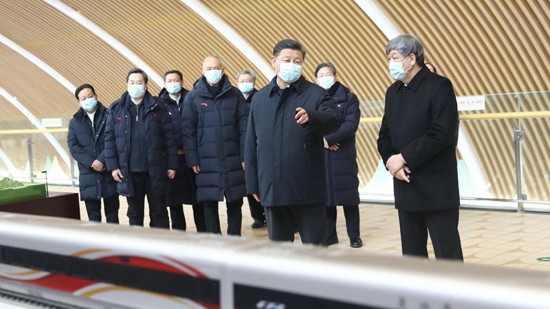 習近平氏、北京冬季五輪の張家口競技エリアを視察