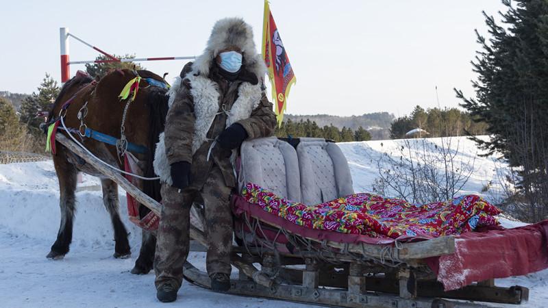 中国最北の馬そり隊、極寒の北極村観光で大活躍 黒竜江省漠河市