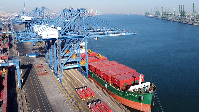 天津港、自動化ターミナルの建設が大きく進展