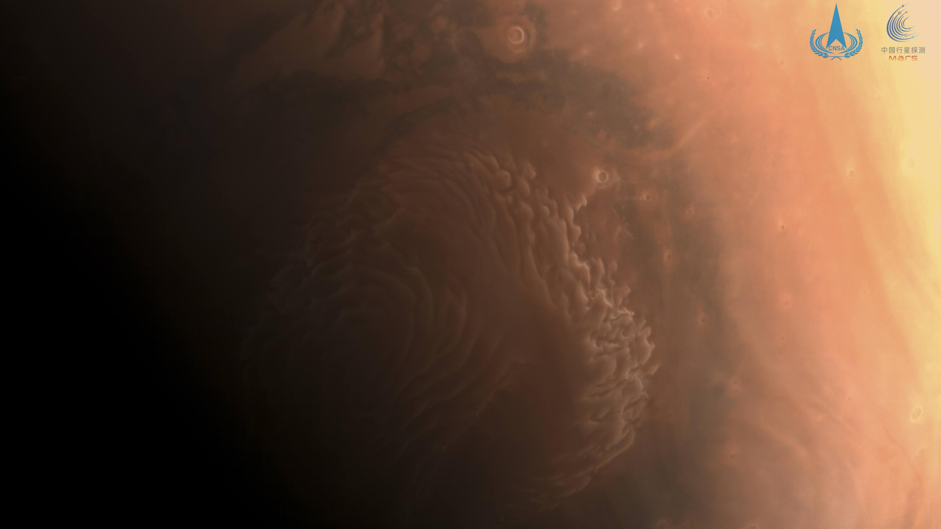 中国国家航天局、「天問1号」が撮影した火星の画像3枚を公開