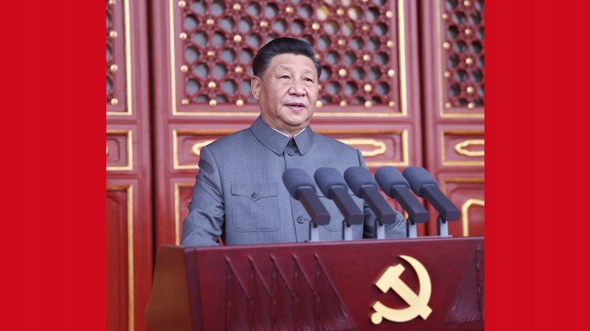 習近平氏、中国共産党創立100周年祝賀大会で重要演説