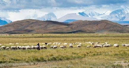 絵のような美しい風景が広がるチベット·シガツェ市