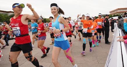 北京マラソン2018がスタート